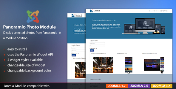KJE Panoramio Photo Widget Module