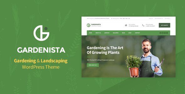 Gardenista - Gardening & Landscaping WordPress Theme