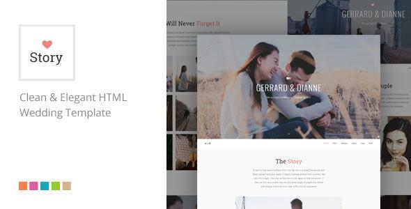 Story - Responsive HTML Wedding Template