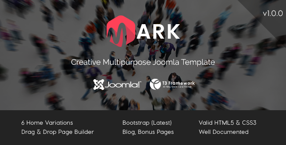 theme preview. large preview - Mark - Creative Multipurpose Joomla Template