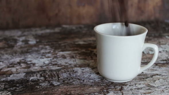 Download White Cup Full of Coffee Beans nulled download