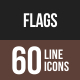Flags Line Multicolor Icons