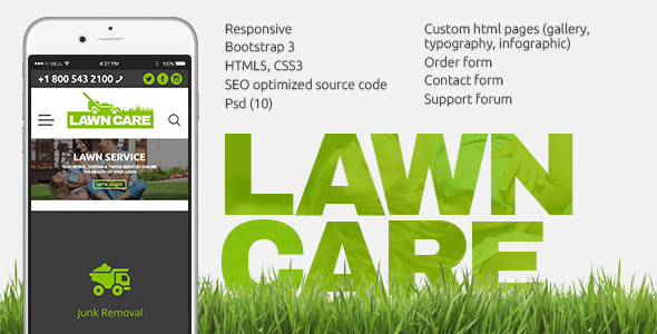 Lawn Care services - HTML website template