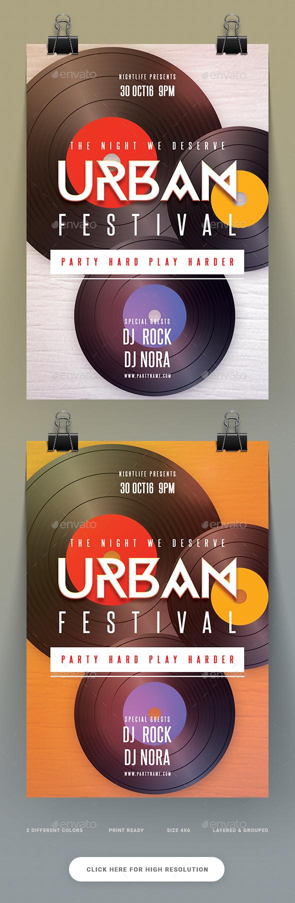 Urban Festival Flyer