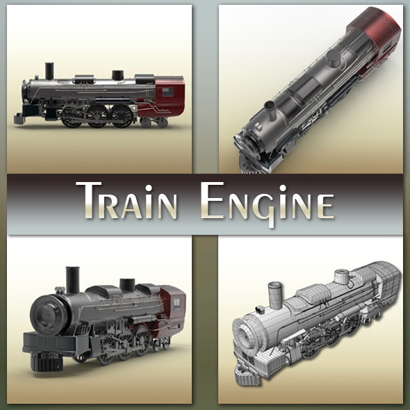 Train Engine - 3DOcean Item for Sale