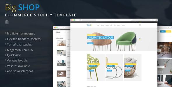 Big Shop - Multipurpose eCommerce Shopify Theme