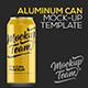Aluminum Can Mock-up Template