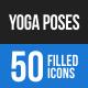 Yoga Poses Blue & Black Icons
