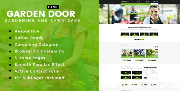 Garden Door - Gardening and Landscaping HTML Template