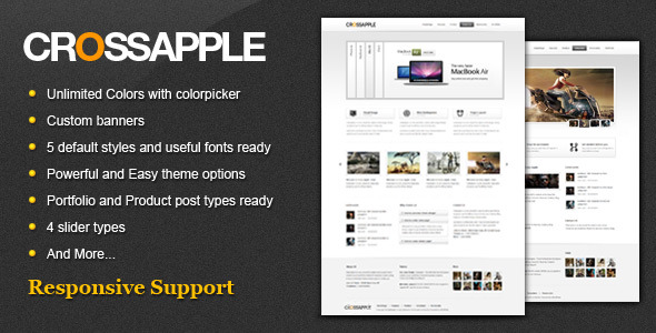 Cross Apple - Clean Business WordPress Theme - The theme preview image.