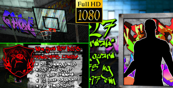 After Effects Project - VideoHive Basketball Team Lineup Street Edition 178 ...