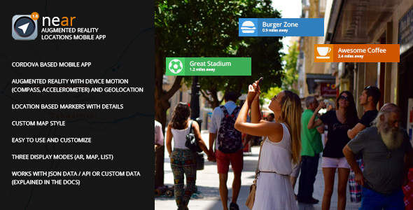 Download near – Augmented Reality Locations Mobile App nulled download