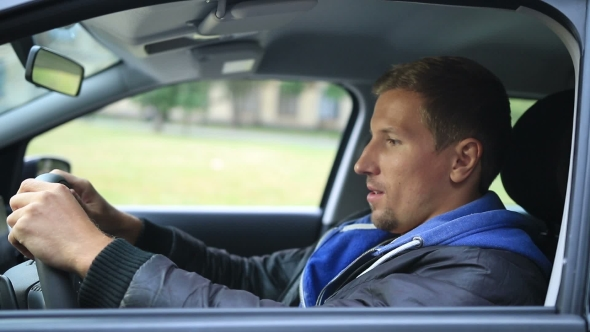 Download Happy Young Man Getting His Keys In The Car nulled download