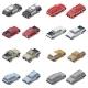 Isometric SUVs, Pickup Trucks, And Service