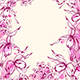 Download Vector Floral Frame with Orchids and Watercolor Blots