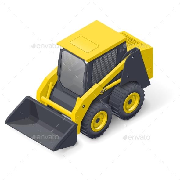 Skid Steer Mini Loader Icon