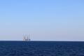 Drilling platforms at sea