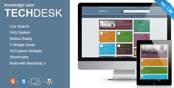 TechDesk - Responsive Knowledge Base/FAQ Theme