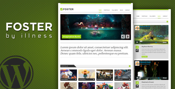 foster - one pager portfolio theme