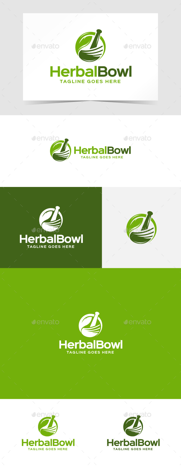 Herbal Bowl Logo Template