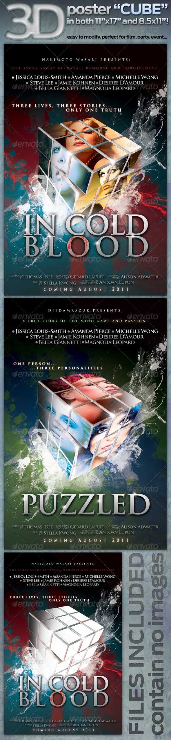 GraphicRiver 3D poster CUBE in both 11 x17 AND 8.5 x11 212223