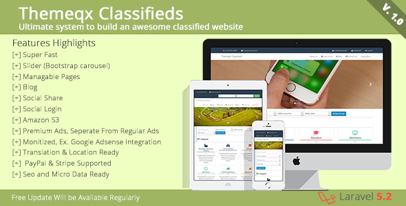 Download Themeqx Classifieds CMS nulled download