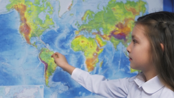 Download Elementary School Student Smiles By World Map nulled download