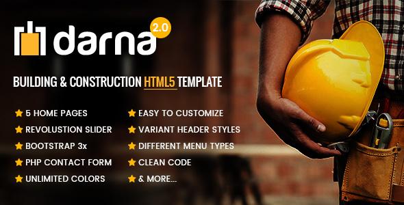 Darna – Building & Construction HTML5 Template