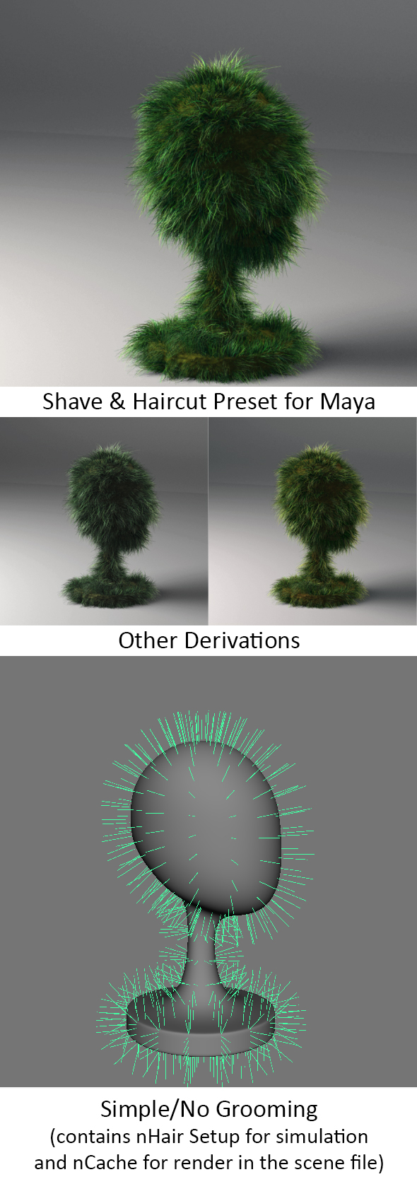 Realistic Shave Grass - 3DOcean Item for Sale