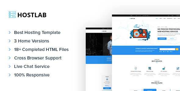 HostLab - Domain & Hosting Responsive Template