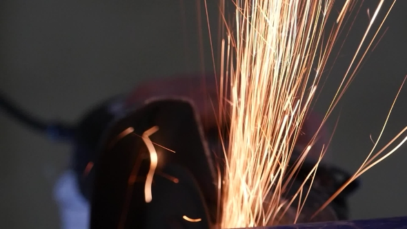 Download Sparks Frying During Metal Grinding nulled download