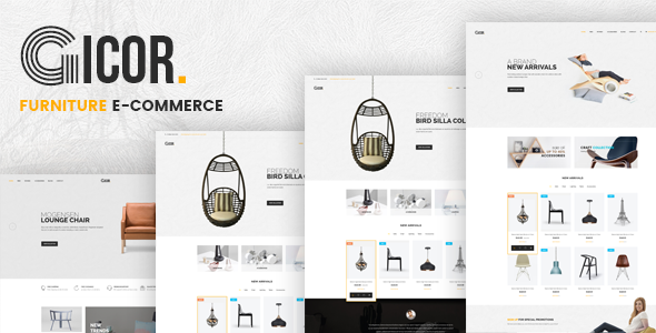 Gicor - Furniture Responsive Magento 2 Theme