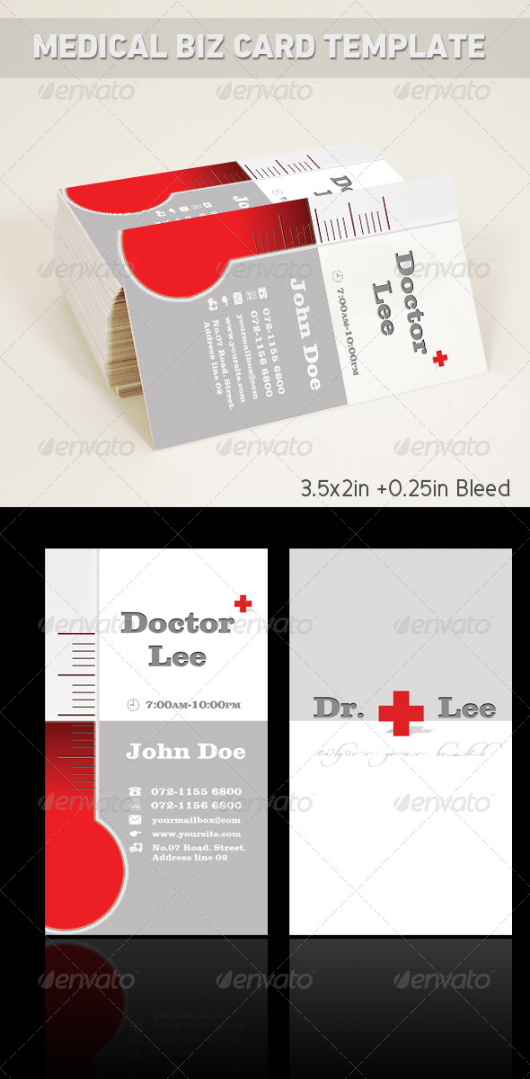 GraphicRiver Medical Business Card Template 212321