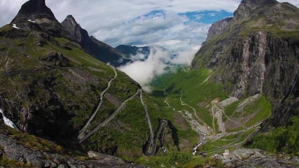 Download Troll's Path Trollstigen Or Trollstigveien Winding Mountain Road. nulled download