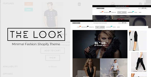 Minimal Fashion Shopify Theme - The Look