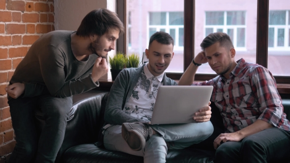 Download Group Of Entrepreneurs Working And Taking Notes Together In a Little Office. Freelancer Meeting, Man nulled download