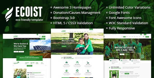 Image of Ecoist - Environment & Non-Profit HTML Template