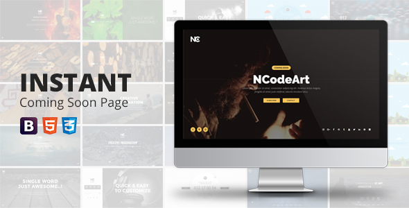 Instant Coming Soon Page (Under Construction) images