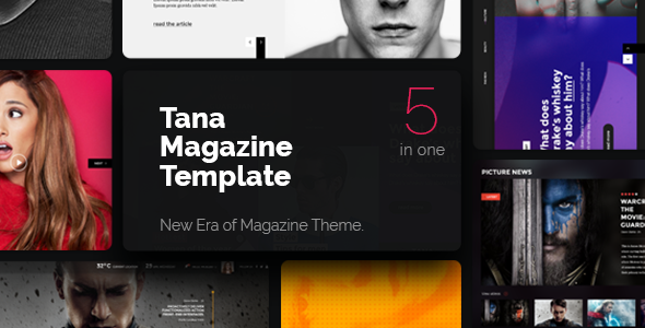 Download Magazine Tana - Newspaper Music Movie & Fashion, 5 in 1 Magazine Theme nulled download
