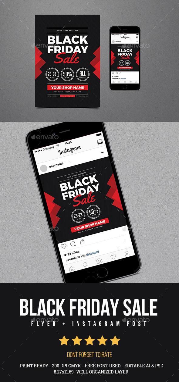 Black Friday Sale Flyer + Instagram post Vol 02