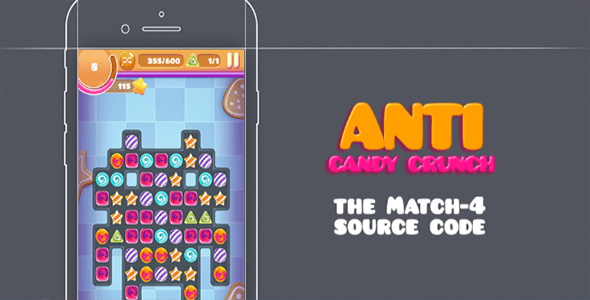 Download Anti Candy Crunch – the MATCH-4 Source Code - iOS 10 and Swift 3 ready nulled download