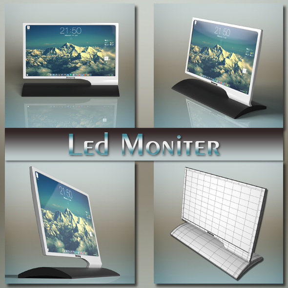 Samsung Led Monitor - 3DOcean Item for Sale