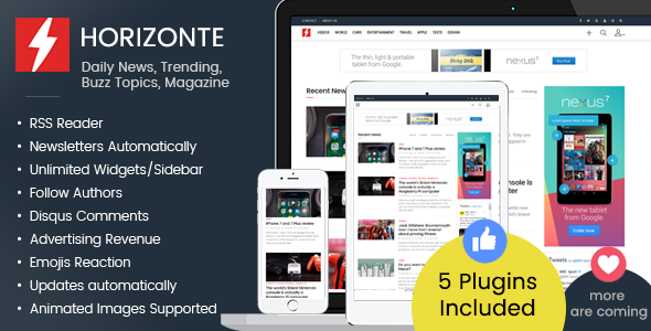 Download Horizonte - Daily News, Trending, Buzz Topics, Magazine nulled download