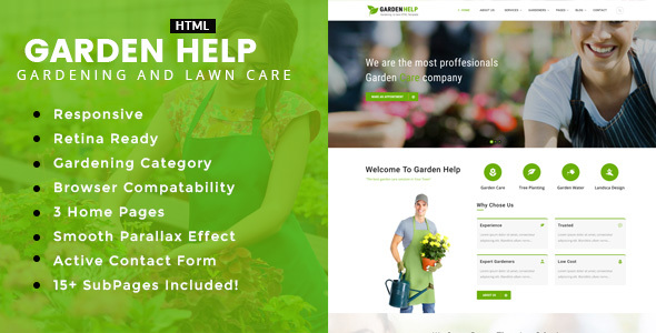 Garden Help - Gardening and Landscaping HTML Template