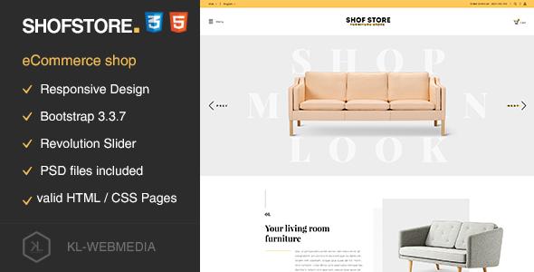 Shofstore - eCommerce HTML5 template