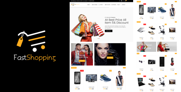 Fast-Shopping, Multipurpose Bootstrap html 5 Ecommerce Template