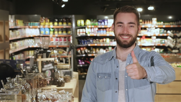 Download Man Shows His Thumb Up At The Mall nulled download