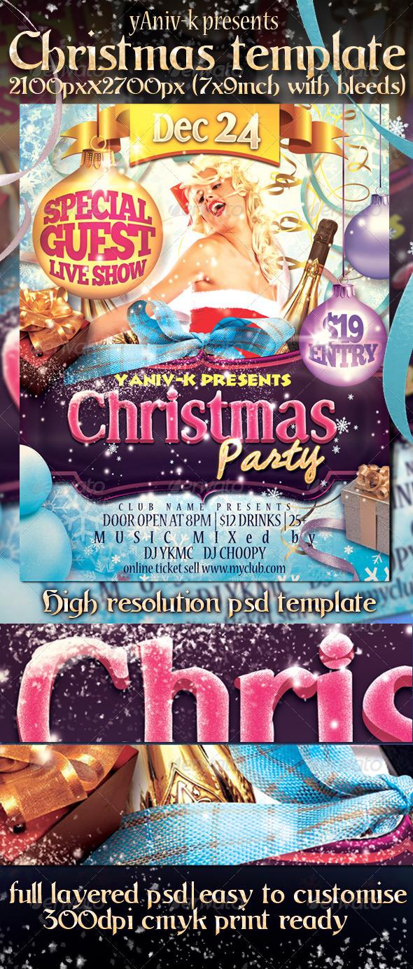 Flyer para Navidad Multicolor