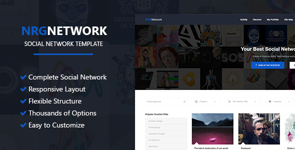 Download NRGNetwork - Responsive Social Network WordPress Theme nulled download
