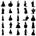 Princess silhouettes set